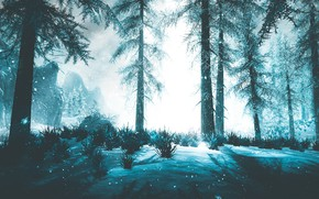 Picture winter, snow, ate, Skyrim, by WatchTheSkiies