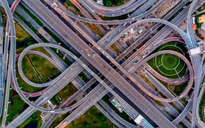 Picture cars, traffic, highway, vehicles, complex