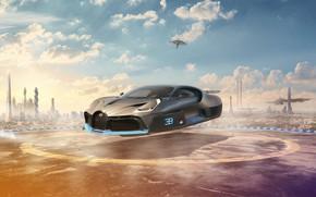 Picture clouds, Future, Bugatti, Bugatti, future, Bugatti 2050