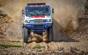 Picture Auto, Dust, Sport, Machine, Truck, Race, Master, Russia, Kamaz, Rally, KAMAZ-master, Rally, KAMAZ, The front, …