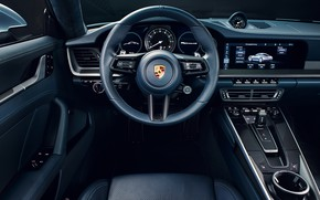 Picture 911, Porsche, the wheel, salon, Carrera 4S, 2019