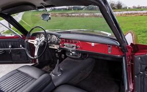 Picture Salon, Speedometer, The wheel, Fiat, Chrome, 1959, Classic car, Abarth, Sports car, Fiat Abarth, Fiat …