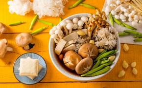 Picture mushrooms, food, bowl