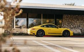 Picture Porsche 911, Yellow, Supercar, Carrera T