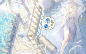 Picture Girl, Anime, Lies, Tea