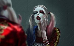 Wallpaper Girl, Figure, Art, Art, Harley Quinn, Comics, DC Comics, DC Art, by Kate Prykhod, Kate ...