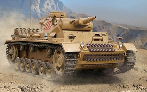 Picture the Wehrmacht, Panzerkampfwagen III, German medium tank, panzerwaffe, DAK, Auletta, Nazi Germany, Africa Corps, Pz.III …