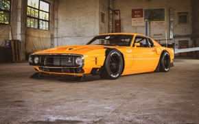 Picture Ford, Shelby, GT500, Auto, Yellow, Retro, Machine, Ford, Orange, 1969, Car, Car, Render, Muscle car, …