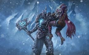 Picture Winter, Snow, WOW, Lich King, Blizzard, Art, Paladin, Paladin, Alternative, World of WarCraft, WarCraft, Silvana, …