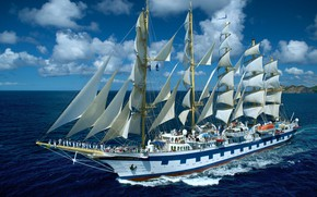 Picture ship, sailing, Royal Clipper