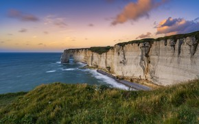 Picture sea, coast, The ocean, cliffs, Cliff