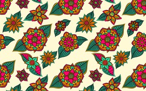 Picture flowers, background, flower, background, pattern, Leaves, testura