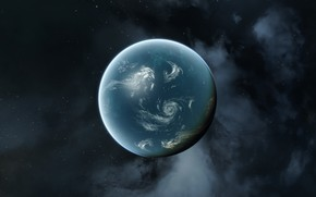 Picture eve online, planet, oceanic
