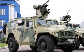 Picture auto, jeep, car, armored car, Gas, gas, armored car, Tiger M, with the combat module …