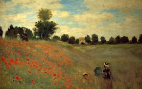 Picture nature, Maki, painting, Claude Monet