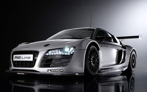 Picture coupe, Motorsport, sports car, Audi R8 LMS, mid-engined all-wheel drive