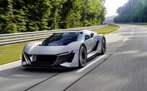 Picture grey, Audi, track, the fence, 2018, PB18 e-tron Concept