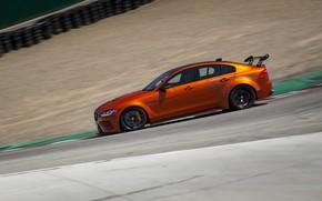 Picture orange, Jaguar, side view, 2018, XE SV Project 8