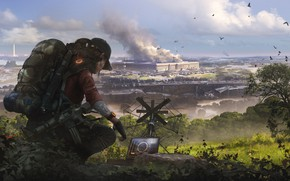 Picture girl, art, soldiers, agent, Washington, Ubisoft, Game, Tom Clancy's The Division 2, The Division 2