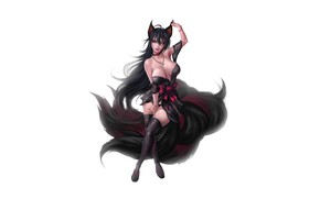 Picture Girl, Fantasy, Kawaii, Beautiful, Sexy, Art, Style, Minimalism, Characters, Figure, Tail, Kitsune, Furry, GvArt GV