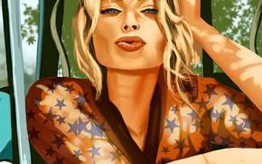 Picture Girl, Machine, Actress, Art, Margot Robbie, Margot Robbie, Австралийская актриса