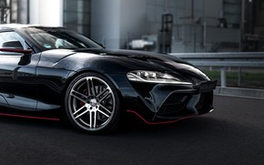 Picture black, coupe, Toyota, Supra, the front part, the fifth generation, mk5, Manhart, double, 2020, GR …