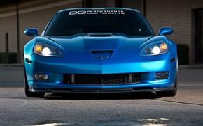 Picture Corvette, ZR1, Blue, Modified