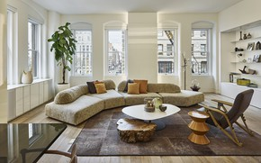 Picture design, style, interior, megapolis, New York, living room, Flatiron Private Residence, by Oda