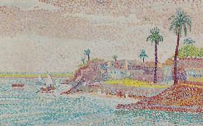Picture landscape, picture, Egypt, pointillism, Yvonne Canu, Yvonne Kahn
