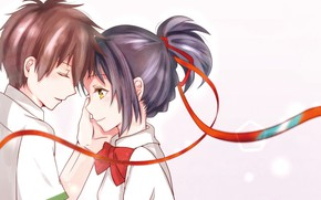 Picture romance, anime, art, two, Kimi no VA On, Your name