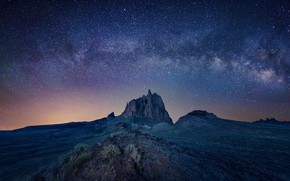 Picture rock, valley, rock, The Milky Way, valley, milky way, Michael Zheng