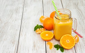 Picture juice, fresh, jar, orange, Olena Rudo