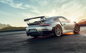 Picture Sunset, Auto, Porsche, Machine, Grey, Car, Render, GT2, Transport & Vehicles, by Basil Peksa, Bartosz …