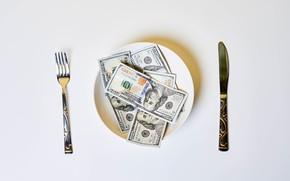 Picture Knife, USA, Plate, Bills, Money, Plug, Benjamin Franklin, Benjamin Franklin, Dollar, Dollar, Dollars, 100, Сто, …
