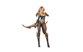 Picture Girl, Minimalism, Blonde, Girl, Fantasy, Art, Art, Fiction, Illustration, Minimalism, Character, Characters, Blade, Character, Game …