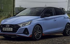 Picture Hyundai, hatchback, 2021, стремительный силуэт, 204 лс, Hyundai i20 N, В-класс