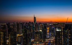 Picture Sunset, The sky, The city, House, Building, City, House, Dubai, Architecture, Dubai, Skyscraper, UAE, United …