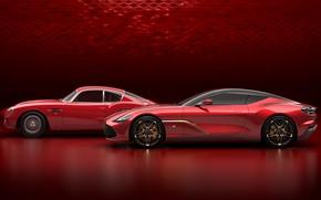 Picture Aston Martin, supercar, side view, Zagato, 2019, DBS GT