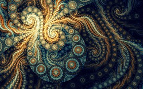 Picture abstraction, fractal, eight