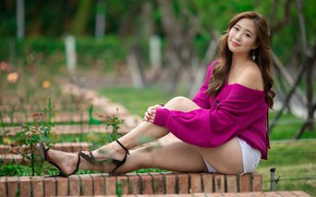 Picture girl, legs, Asian