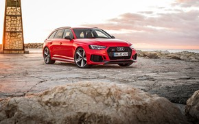 Picture Audi, coast, 2018, universal, RS4, Before