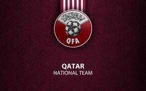 Picture Qatar, football, sport, National team, wallpaper, logo