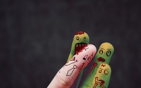 Picture blood, bite, mouth, zombies, attack, fingers, violence, intellectual, офисный планктон, расчленёнка