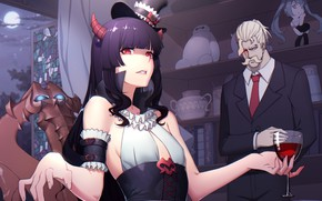 Picture girl, demoness, the bartender