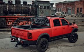 Picture red, Dodge, pickup, frame, 1500, Ram, Crew Cab, Limited, JB Car Design