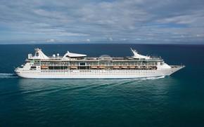 Picture The ocean, Sea, Liner, The ship, Royal Caribbean International, Passenger ship, Cruise Ship, Royal Caribbean …