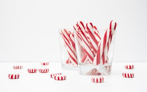 Picture glass, table, candy, sweets
