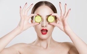 Picture beauty, cucumbers, treatment