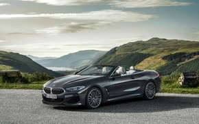 Picture mountains, shadow, BMW, convertible, xDrive, G14, 8-series, 2019, Eight, M850i Convertible