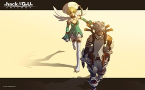 Picture girl, art, guy, two, hack//SIGN
